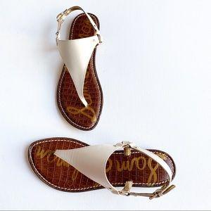 NWOT Sam Edelman white leather sandal